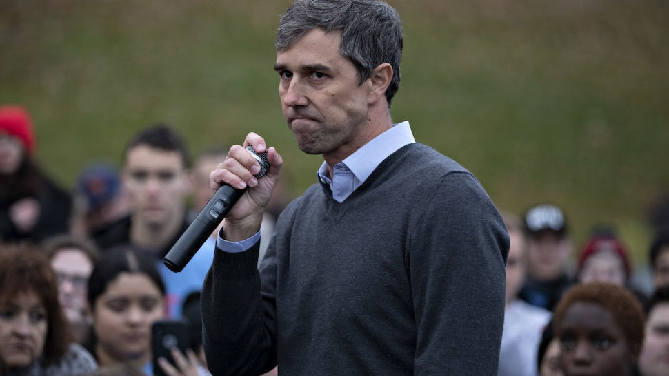 Beto O'Rourke, former Representative from Texas, speaks on the sidelines of the Iowa Democratic Party Liberty & Justice Dinner in Des Moines, Iowa, U.S., on Friday, Nov. 1, 2019. The former Texas congressman said in a blog post earlier in the day that he was ending his bid for the White House amid lackluster fundraising and poor poll numbers. Photographer: Daniel Acker/Bloomberg via Getty Images