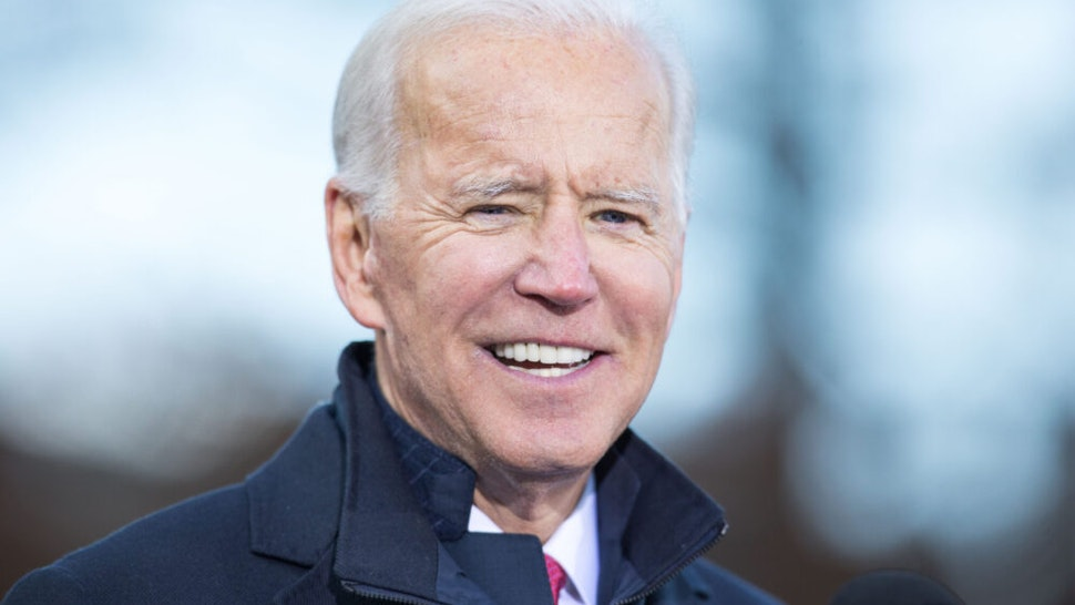 CONCORD, NH - NOVEMBER 08: Democratic presidential candidate, former vice President Joe Biden speaks during a rally after he signed his official paperwork for the New Hampshire Primary at the New Hampshire State House on November 8, 2019 in Concord, New Hampshire. The state's first-in-the-nation primary will be held on February 11, 2020.
