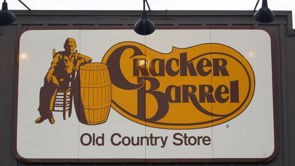 Signage is displayed outside a Cracker Barrel Old Country Store Inc. restaurant and gift shop in Louisville, Kentucky, U.S., on Monday, Sept. 23, 2019. Cracker Barrel is scheduled to release earnings figures on November 26. Photographer: Luke Sharrett/Bloomberg via Getty Images
