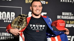 LAS VEGAS, NEVADA - DECEMBER 12: Colby Covington poses for the media during the UFC 245 Ultimate Media Day at the Red Rock Casino Resort on December 12, 2019 in Las Vegas, Nevada. (Photo by Chris Unger/Zuffa LLC via Getty Images)