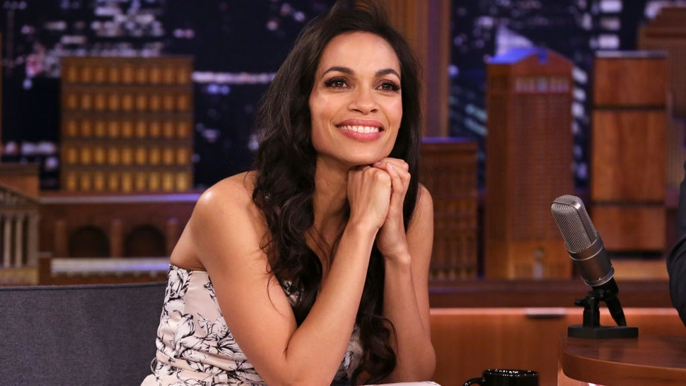 THE TONIGHT SHOW STARRING JIMMY FALLON -- Episode 1209 -- Pictured: Actress Rosario Dawson during an interview on February 13, 2020