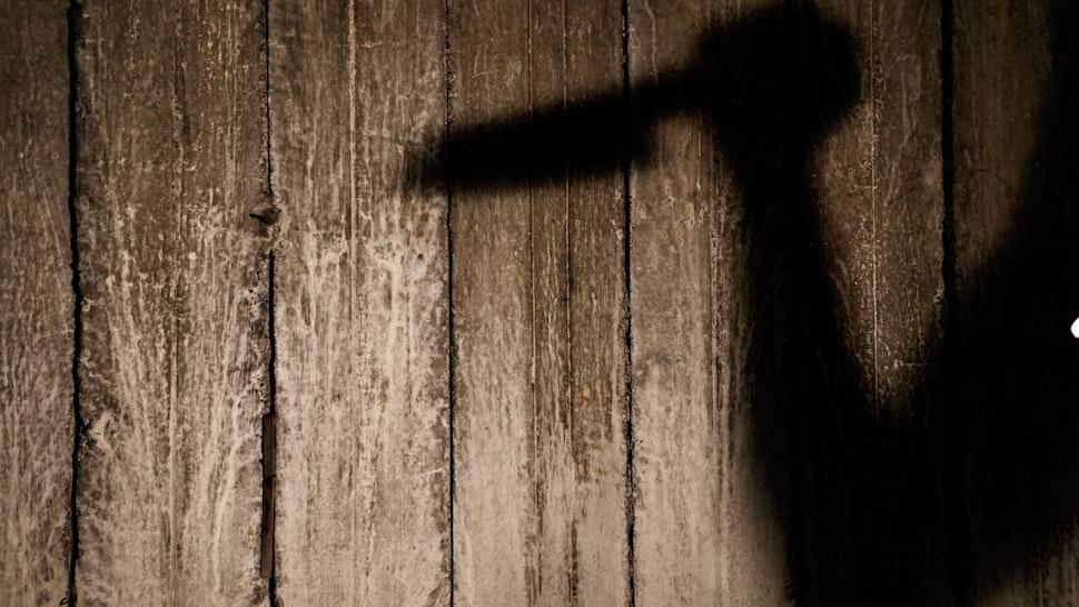 Full Frame Shot Of Wooden Wall - stock photo