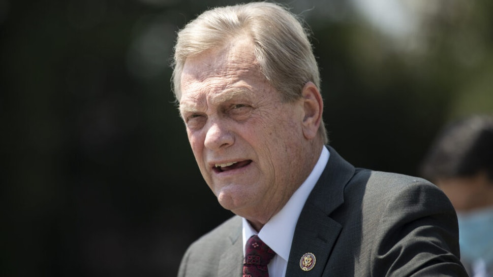 UNITED STATES - JULY 22: Rep. Mike Simpson, R-Idaho, speaks during a news conference on the Great American Outdoors Act in the Capitol in Washington on Wednesday, July 22, 2020.