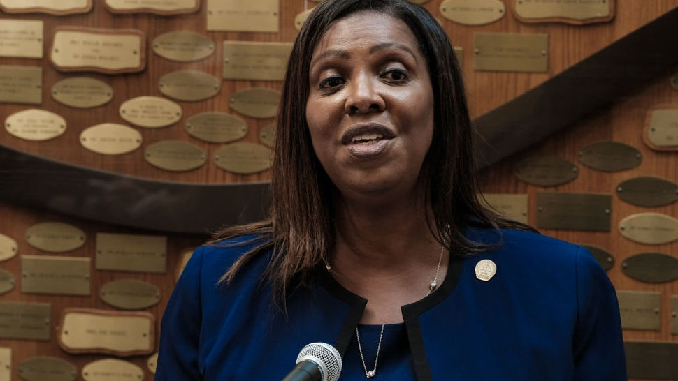 New York State Attorney General Letitia James speaks at a news conference about the ongoing investigation into the death of Daniel Prude on September 20, 2020 in Rochester, New York.