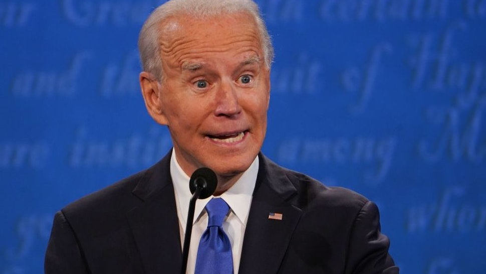 Democratic Presidential candidate and former US Vice President Joe Biden speaks during the final presidential debate at Belmont University in Nashville, Tennessee, on October 22, 2020.