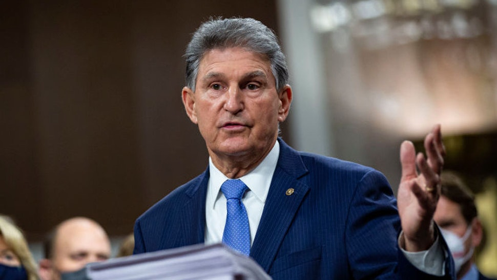 WASHINGTON, DC - DECEMBER 14: Senator Joe Manchin, a Democrat from West Virginia, speaks during a news conference with a bipartisan group of lawmakers as they announce a proposal for a Covid-19 relief bill on Capitol Hill, on Monday, December 14, 2020 in Washington, DC. Lawmakers from both chambers released a $908 billion package Monday, split into two bills.(Photo by Al Drago for The Washington Post via Getty Images)