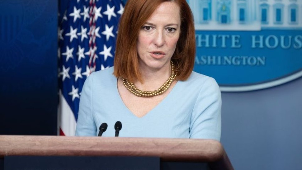White House Press Secretary Jen Psaki holds a press briefing in the Brady Briefing Room of the White House in Washington, DC. on February 10, 2021. (Photo by SAUL LOEB / AFP) (Photo by SAUL LOEB/AFP via Getty Images)