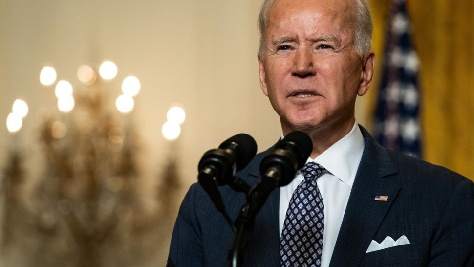 U.S. President Joe Biden delivers remarks at a virtual event hosted by the Munich Security Conference in the East Room of the White House on February 19, 2021 in Washington, DC.