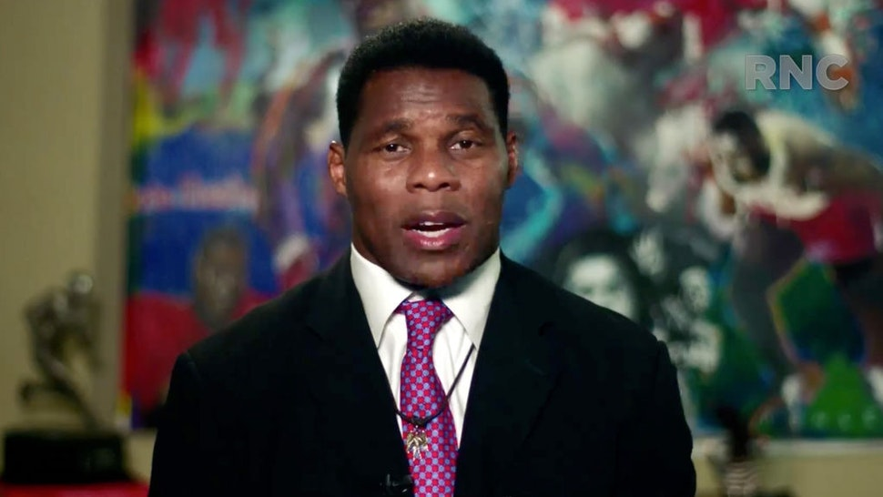 CHARLOTTE, NC - AUGUST 24: (EDITORIAL USE ONLY) In this screenshot from the RNC's livestream of the 2020 Republican National Convention, former NFL athlete Herschel Walker addresses the virtual convention on August 24, 2020. The convention is being held virtually due to the coronavirus pandemic but will include speeches from various locations including Charlotte, North Carolina and Washington, DC. (Photo Courtesy of the Committee on Arrangements for the 2020 Republican National Committee via Getty Images)