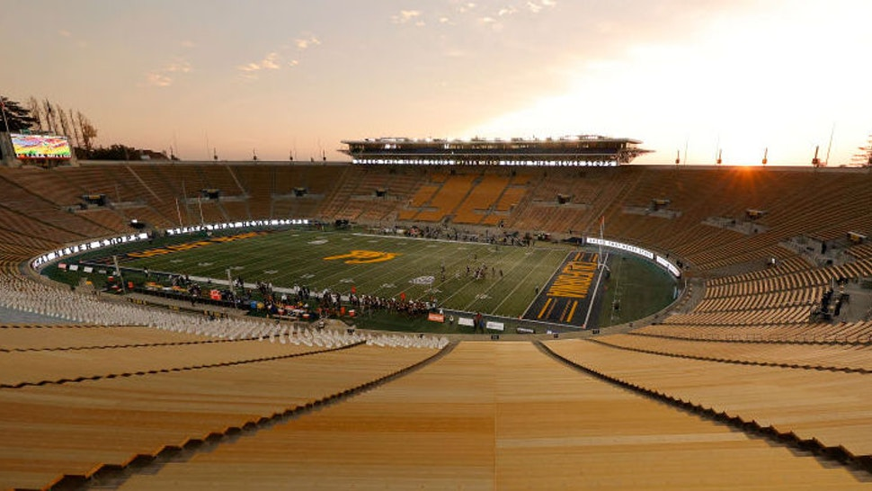 BERKELEY, CALIFORNIA - DECEMBER 05: A general view during the California Golden Bears game against the Oregon Ducks at California Memorial Stadium on December 05, 2020 in Berkeley, California. (Photo by Ezra Shaw/Getty Images)