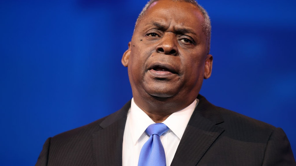 U.S. Army (retired) General Lloyd Austin speaks after being formally nominated to be Secretary of the Department of Defense by U.S. President-elect Joe Biden at the Queen Theatre on December 09, 2020 in Wilmington, Delaware.