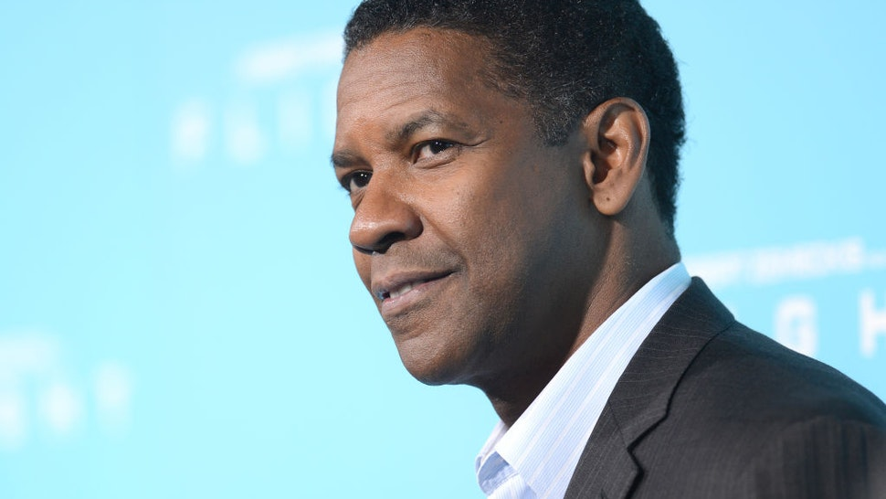 """HOLLYWOOD, CA - OCTOBER 23: Actor Denzel Washington arrives at the premiere of Paramount Pictures' """"Flight"""" held at the ArcLight Cinemas on October 23, 2012 in Hollywood, California. (Photo by Jason Merritt/Getty Images)"""