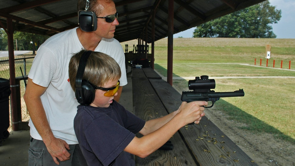 Father and Son Shooting Lessons