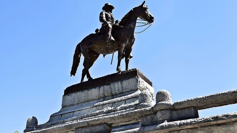 CHICAGO - MAY 24: Louis T. Rebisso's Ulysses S. Grant Memorial, sits outside the southern entrance to Lincoln Park Zoo in Chicago, Illinois on MAY 24, 2013. (Photo By Raymond Boyd/Getty Images)