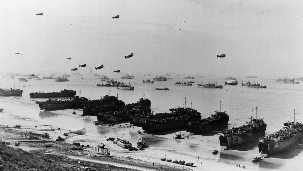 Ships At Omaha Beach