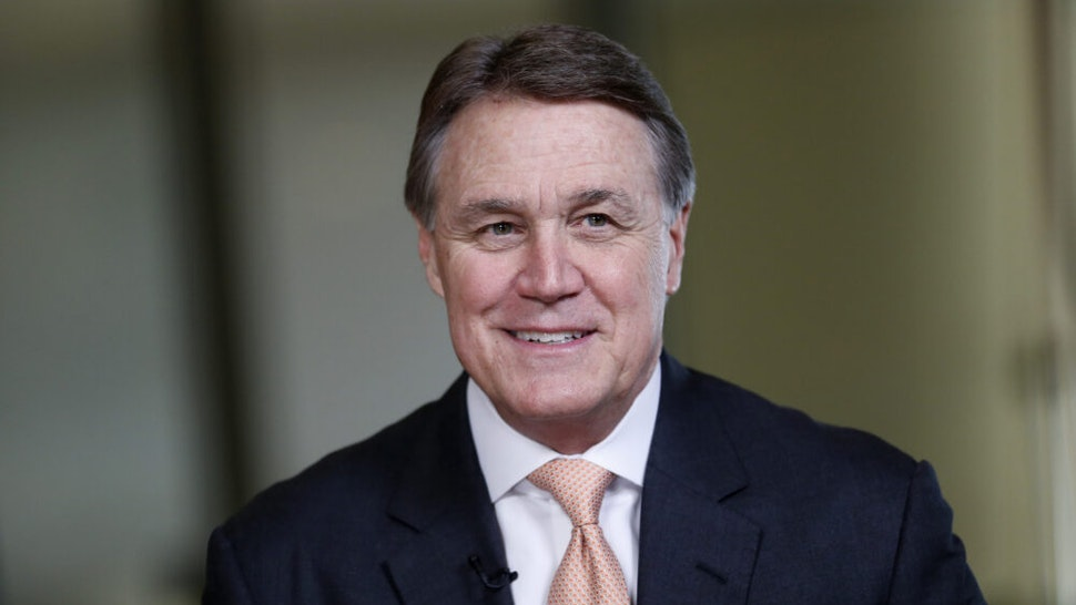 Senator Dave Perdue, a Republican from Georgia, speaks during a Bloomberg Television interview the annual Milken Institute Global Conference in Beverly Hills , California, U.S., on Monday, May 2, 2016. The conference gathers attendees to explore solutions to today's most pressing challenges in financial markets, industry sectors, health, government and education.