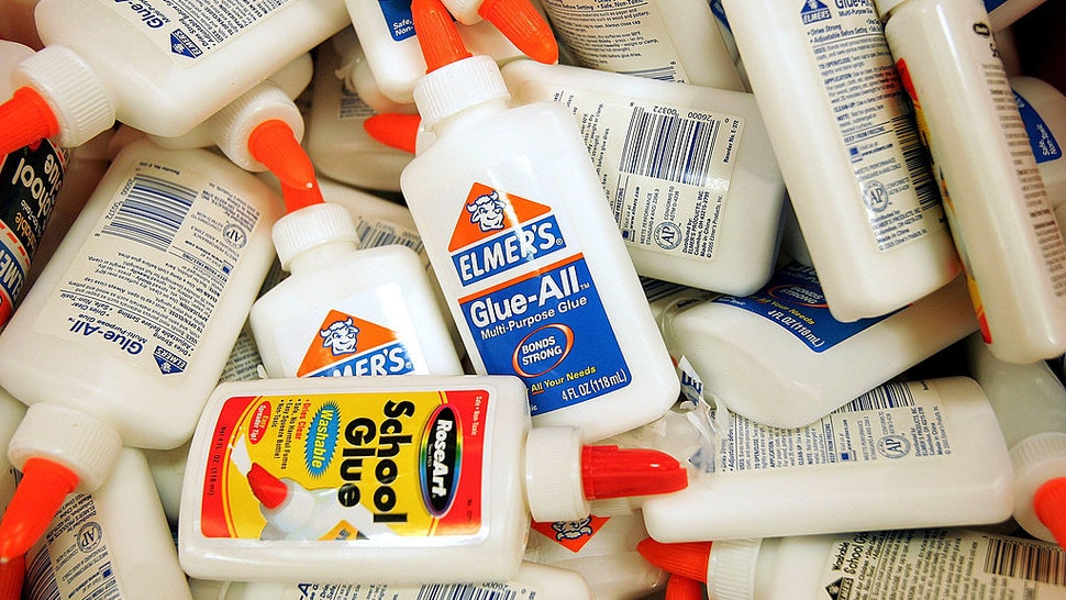 ROSEMONT, IL - AUGUST 11: Glue is displayed in the back-to-school section of a Target store August 11, 2005 in Rosemont, Illinois. With the start of school nearing, retailers are stocking up in anticipation of back-to-school shoppers. (Photo by Tim Boyle/Getty Images)