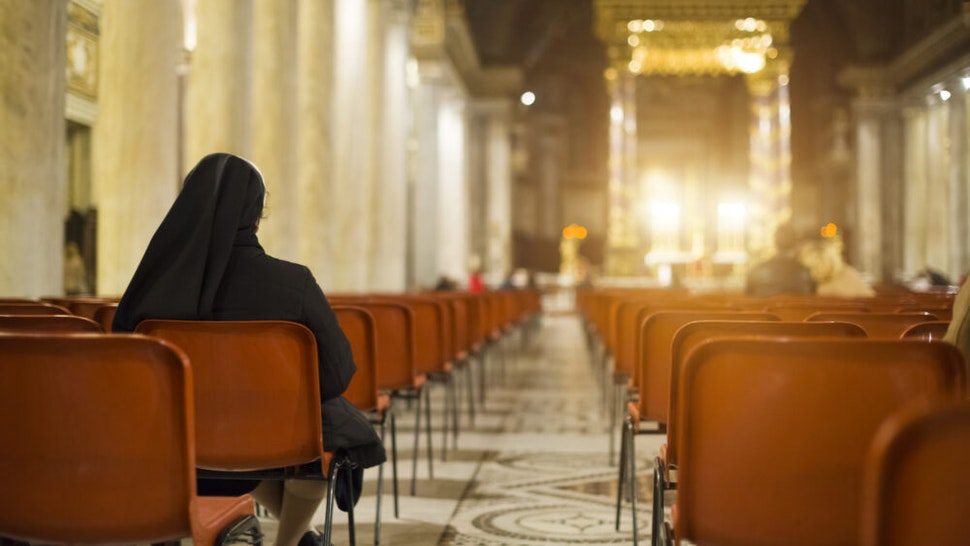 Mass in San Giovanni Laterano basilica, Rome Italy