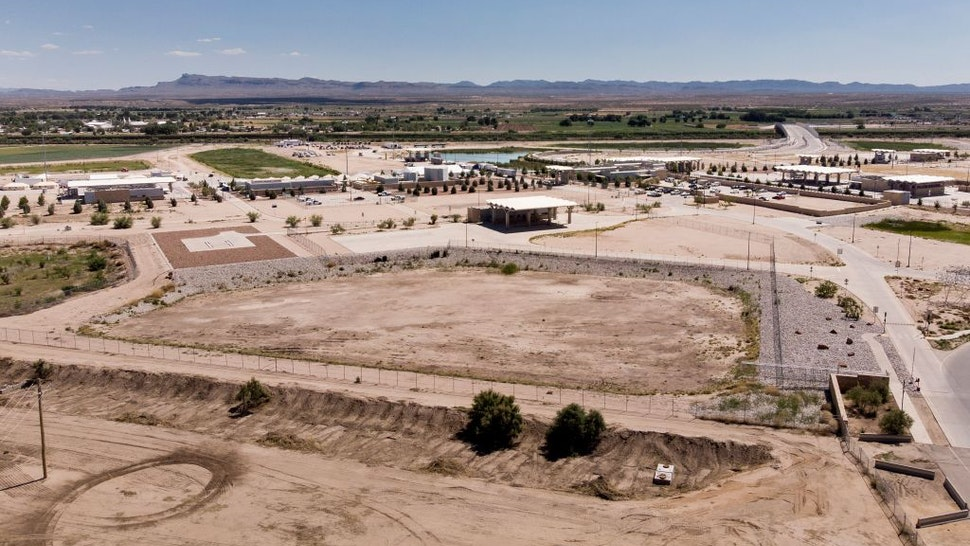 A view of the US Customs and Border Protection complex housing underage people caught illegally entering the United States at the Tornillo Port of Entry June 19, 2018 in Fabens, Texas.