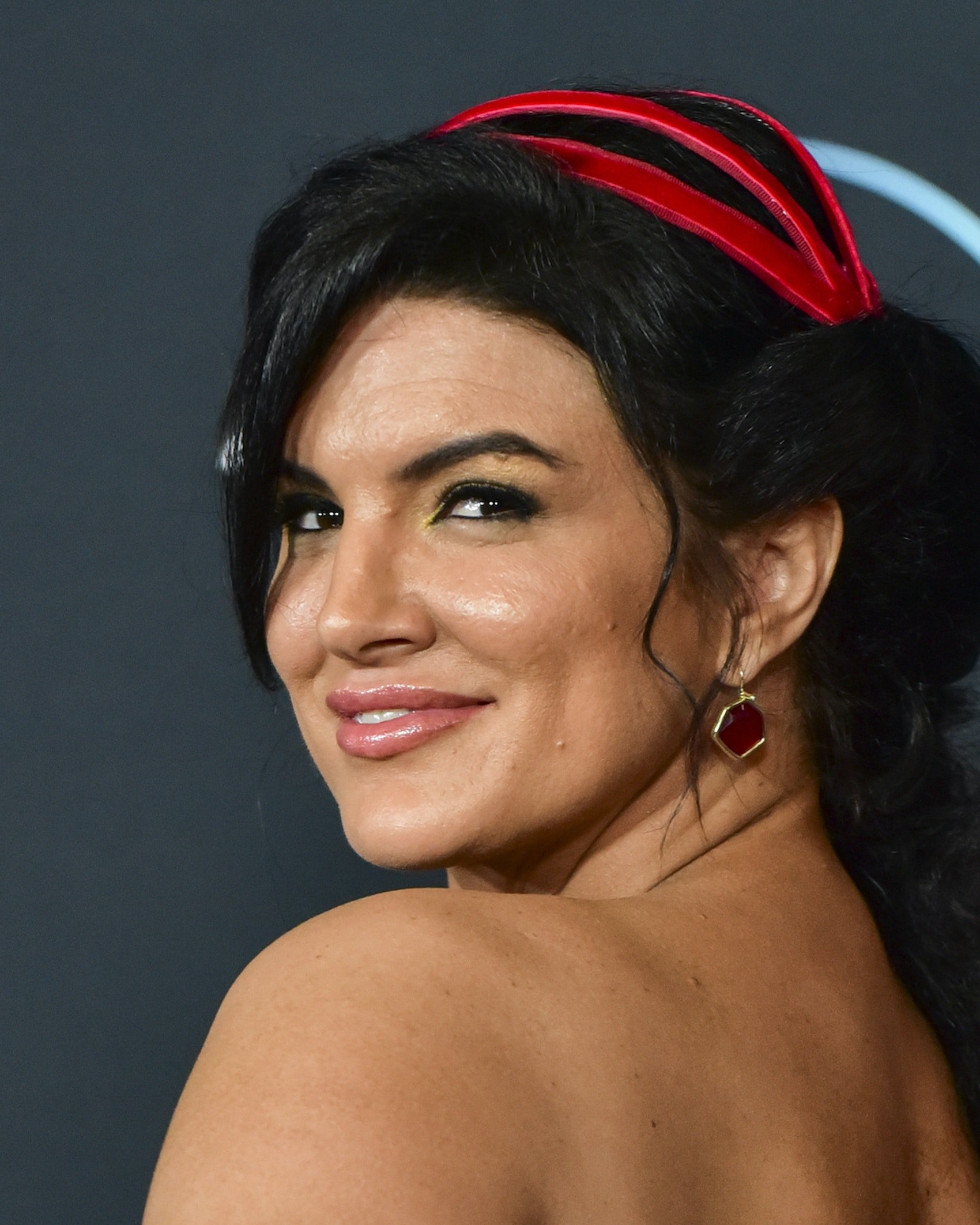 """Gina Carano attends the premiere of Disney+'s """"The Mandalorian"""" at El Capitan Theatre on November 13, 2019 in Los Angeles, California. (Photo by Rodin Eckenroth/FilmMagic)"""