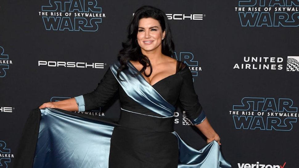 """HOLLYWOOD, CALIFORNIA - DECEMBER 16: Actress Gina Carano attends the premiere of Disney's """"Star Wars: The Rise of Skywalker"""" on December 16, 2019 in Hollywood, California. (Photo by Ethan Miller/FilmMagic)"""