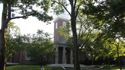 Photo taken on July 14, 2020 shows a view of the campus of Harvard University in Cambridge of Massachusetts, the United States. The U.S. government has rescinded a new rule that could have denied international students their stay in the country if they only attend online courses in the coming fall semester, a federal judge in Boston, Massachusetts said Tuesday