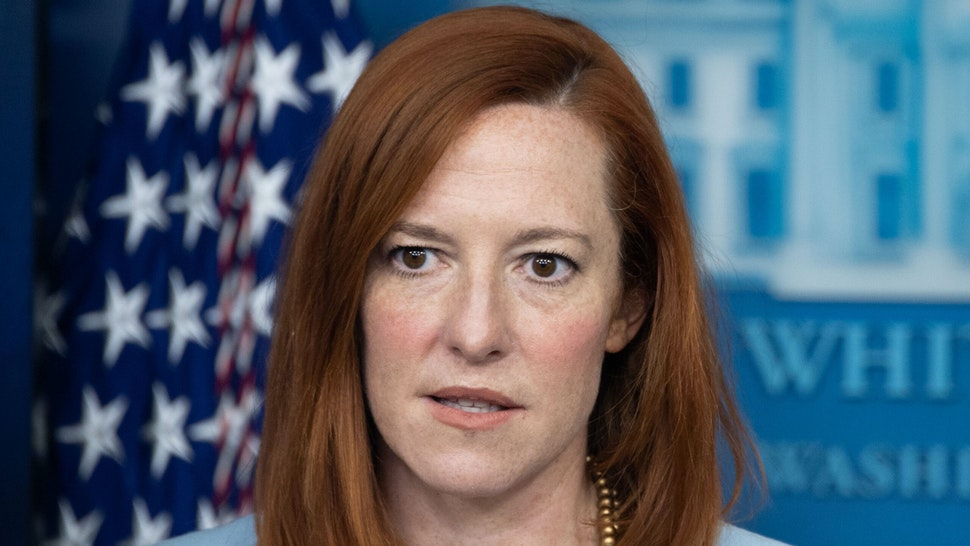 White House Press Secretary Jen Psaki holds a press briefing in the Brady Briefing Room of the White House in Washington, DC. on February 10, 2021.