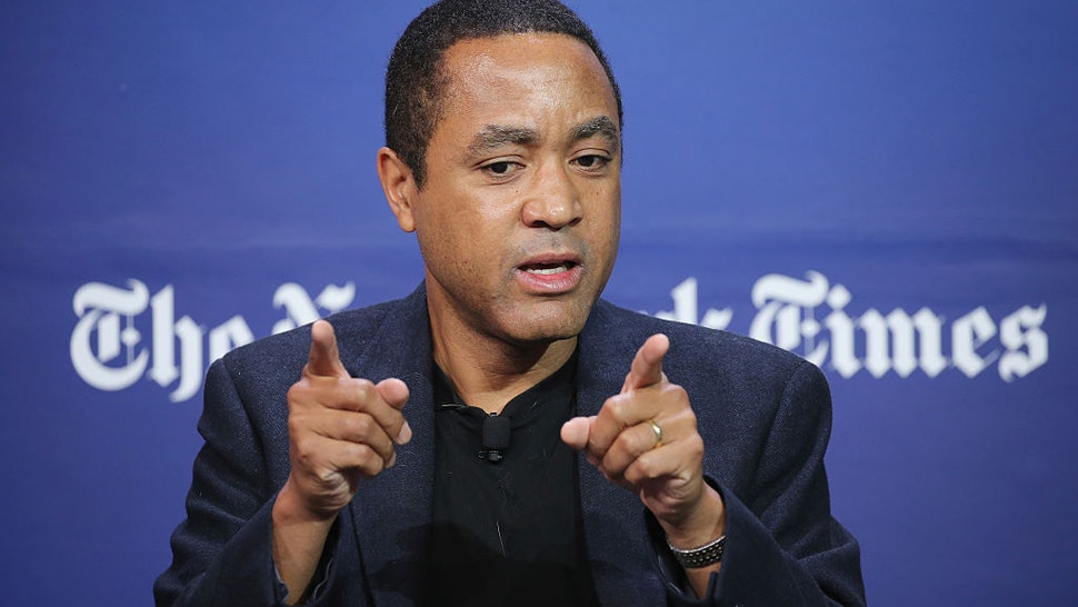 Author, columnist and professor at Columbia University, John McWhorter speaks onstage during the New York Times Schools for Tomorrow conference at New York Times Building on September 17, 2015 in New York City. (Photo by Neilson Barnard/Getty Images for New York Times)