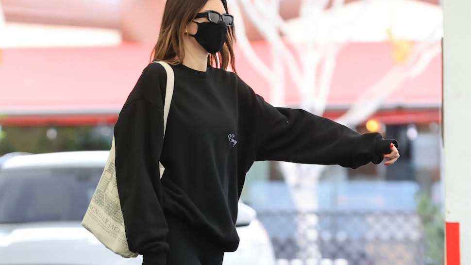 endall Jenner is seen on February 1, 2021 in Los Angeles, California.