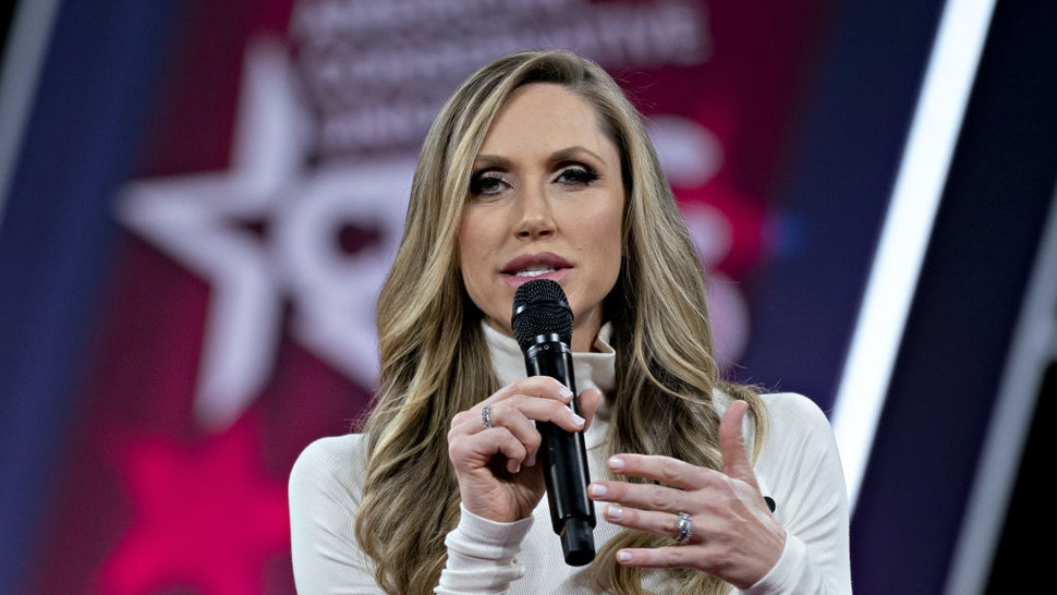 Lara Trump, adviser to U.S. President Donald Trump, speaks during a discussion at the Conservative Political Action Conference (CPAC) in National Harbor, Maryland, U.S., on Friday, Feb. 28, 2020. President Trump will address this years CPAC after seeking to close ranks within his administration about the threat posed by the coronavirus and how the U.S. government plans to stop its spread following mixed messages that rattled Wall Street.