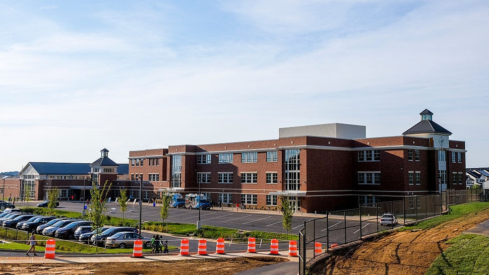 Hallie Wells Middle School is the first new middle school in 11 years in Maryland's Montgomery County, on Wednesday, August 24, 2016, in Clarksburg, MD. The school soon opens as enrollment in Montgomery County, Maryland's largest school system, continues to grow.