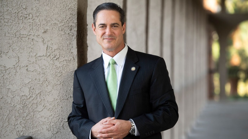 SANTA ANA, CA - NOVEMBER 07: Orange County Supervisor Todd Spitzer was elected the Orange County district attorney in the November 6, 2018 election.