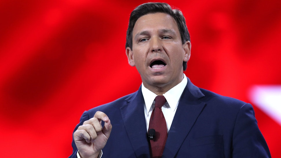 ORLANDO, FLORIDA - FEBRUARY 26: Florida Gov. Ron DeSantis speaks at the opening of the Conservative Political Action Conference at the Hyatt Regency on February 26, 2021 in Orlando, Florida. Begun in 1974, CPAC brings together conservative organizations, activists and world leaders to discuss issues important to them.
