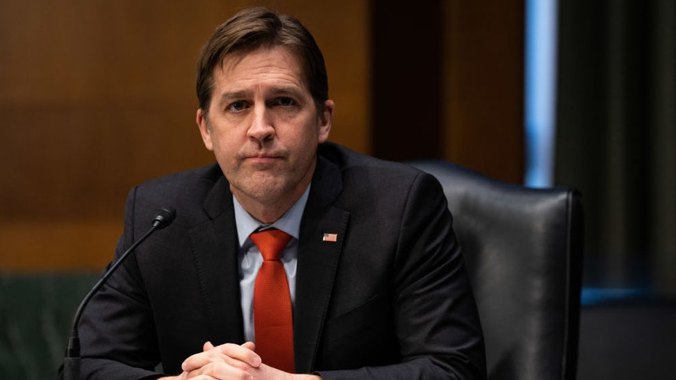 WASHINGTON, DC - JANUARY 19: Sen. Ben Sasse (R-NE) speaks during a Senate Finance Committee hearing for Janet L. Yellen, President-elect Joe Biden's nominee for Treasury Secretary, on January 19, 2021 in Washington DC.