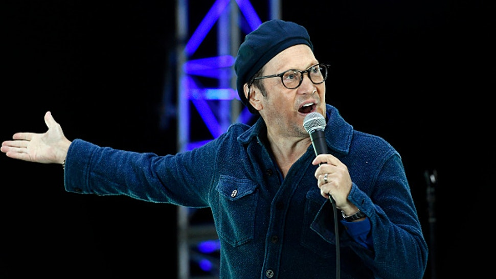 VENTURA, CALIFORNIA - AUGUST 28: Rob Schneider performs onstage during the 'Comedy in Your Car's' drive-In concert at Ventura County Fairgrounds and Event Center on August 28, 2020 in Ventura, California. Due to ongoing coronavirus social distance restrictions, drive-in concerts have become a popular way for fans to experience live music