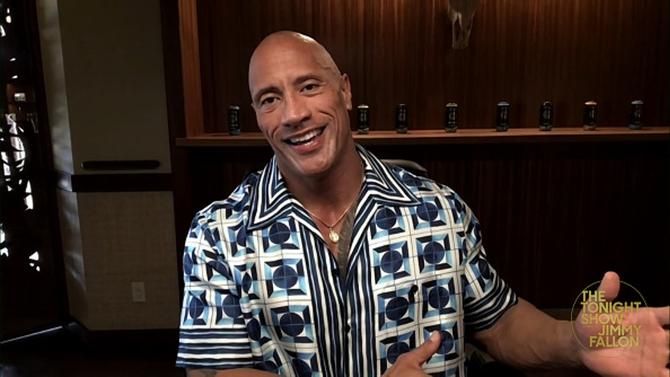 THE TONIGHT SHOW STARRING JIMMY FALLON -- Episode 1406A -- Pictured in this screengrab: Actor Dwayne Johnson during an interview on February 10, 2021 --