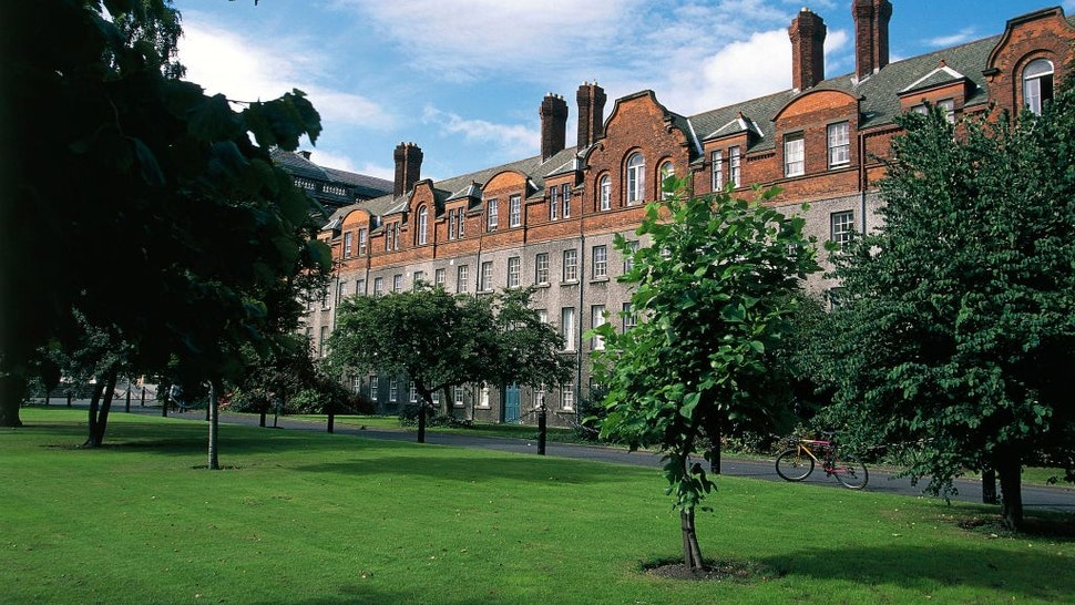 The Rubrics, the oldest building within Trinity College, ca 1690, Dublin, Ireland, 17th century.