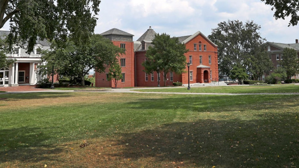 Tufts University campus grounds in Medford, MA are pictured on Aug. 11, 2020.