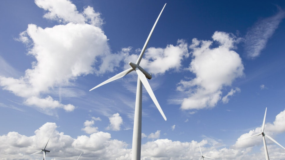 Black Law wind farm near Carluke in Scotland, UK When it was constructed it was the largest wind farm in the UK with 54 turbines with a capacity of 97 Megawatts, enough to power 70,000 homes The wind farm was built on the site of an old open cast coal mine.