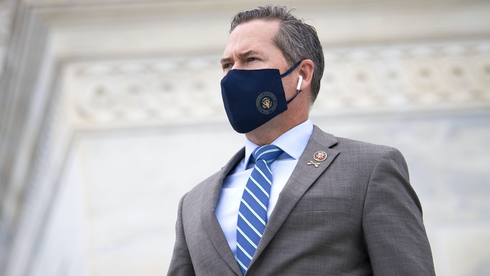 UNITED STATES - SEPTEMBER 17: Rep. Michael Waltz, R-Fla., walks down the House steps after a vote in the Capitol on Thursday, Sept. 17, 2020.
