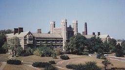 The campus of Washington University in St. Louis, Missouri, USA, circa 1960.