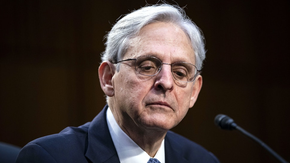 Attorney General nominee Merrick Garland listens during his Senate Judiciary Committee hearing on Capitol Hill in Washington, DC on February 22, 2021.