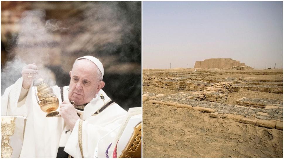 Pope Francis and Ur Ziggurat