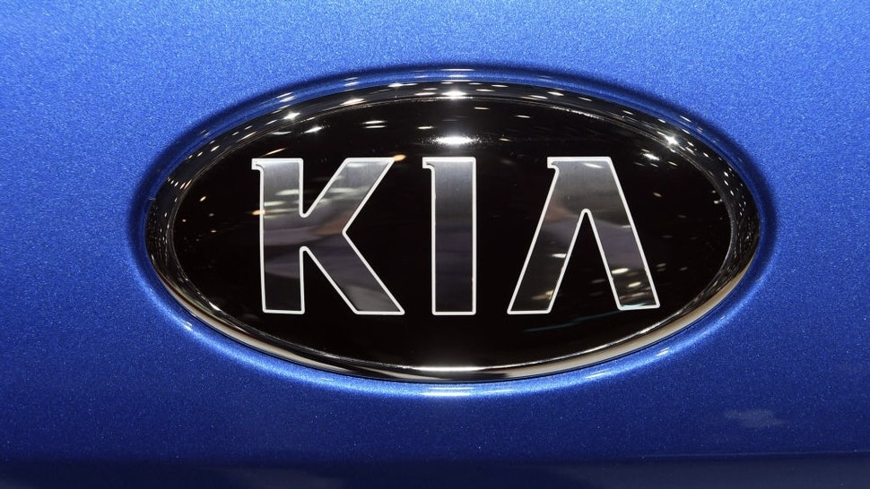 06 March 2019, Switzerland, Genf: A Kia logo, taken on the second press day. The 89th Geneva Motor Show starts on 7 March and lasts until 17 March. Photo: Uli Deck/dpa (Photo by Uli Deck/picture alliance via Getty Images)