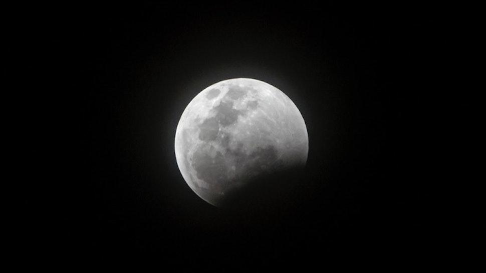 Lunar Eclipse - stock photo Super Blood Wolf Moon