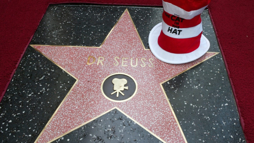 """Dr. Seuss Star during Theodor """"Dr. Seuss"""" Geisel Honored Posthumously with Star on Hollywood Walk of Fame at Hollywood Blvd. in Hollywood, California, United States."""