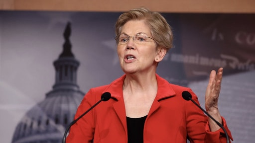 WASHINGTON, DC - MARCH 01: Sen. Elizabeth Warren (D-MA) holds a news conference to announce legislation that would tax the net worth of America's wealthiest individuals at the U.S. Capitol on March 01, 2021 in Washington, DC. Citing growing inequalities during the coronavirus pandemic, Warren, Rep. Pramila Jayapal (D-WA) and Rep. Brendan Boyle (D-PA) introduced the bill that would apply a two-percent tax on people worth more than $50 million and an additional one-percent surcharge for net worth above $1 billion. (Photo by Chip Somodevilla/Getty Images)