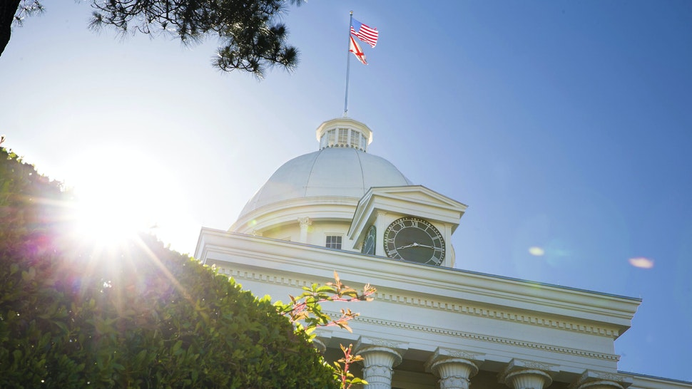 MONTGOMERY, AL - MAY 14- The Alabama State Capitol building is seen on Tuesday, May 14, 2019 in Montgomery, AL. The Alabama state Senate is elected to vote today on a bill that would completely ban abortion in the state.