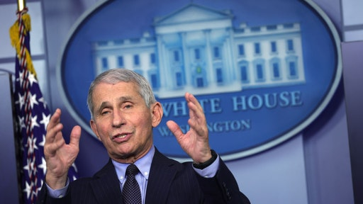 WASHINGTON, DC - JANUARY 21: Dr Anthony Fauci, Director of the National Institute of Allergy and Infectious Diseases, speaks during a White House press briefing, conducted by White House Press Secretary Jen Psaki, at the James Brady Press Briefing Room of the White House January 21, 2021 in Washington, DC. Psaki held her second press briefing since President Joe Biden took office yesterday. (Photo by Alex Wong/Getty Images)
