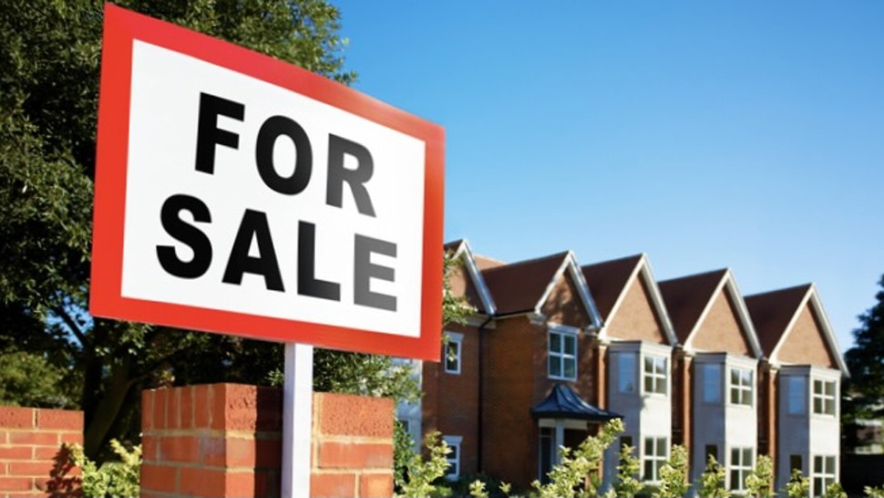 House/flat for sale sign - stock photo
